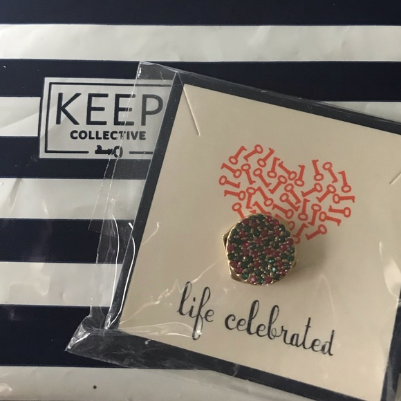 KEEP Collective Jewelry - KEEP Collective Multi-coloured Pave Disc Charm
